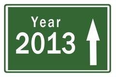 Scheda 2013 della strada principale di nuovo anno felice Fotografia Stock Libera da Diritti