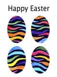 scheda Acquerello messo con le uova scure per Pasqua Pasqua felice Su una priorità bassa bianca illustrazione di stock