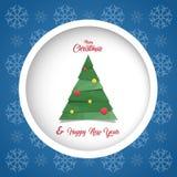 Scheda anno felice di nuovo & di Buon Natale Immagini Stock Libere da Diritti
