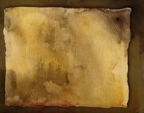Scheda antica. Acquerello Fotografia Stock