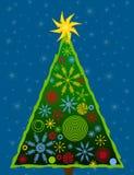 Carta astratta 3 dell'albero di Natale Immagine Stock