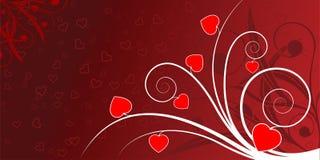 Scheda astratta del biglietto di S. Valentino royalty illustrazione gratis