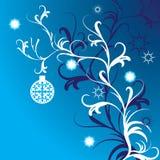 Scheda astratta di inverno con il posto per il vostro testo Illustrazione Vettoriale