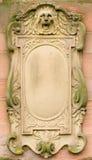 Scheda barrocco di bas-relief Fotografie Stock Libere da Diritti