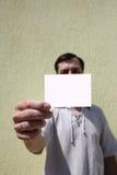 Scheda bianca Fotografia Stock