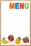 Scheda bianca in bianco del menu Fotografia Stock