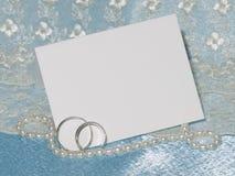 Scheda bianca per la congratulazione Fotografia Stock