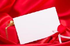 Scheda bianca per la congratulazione Fotografia Stock Libera da Diritti