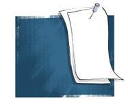 Scheda in bianco del messaggio, illustrazione di disegno a mano libera Fotografia Stock Libera da Diritti