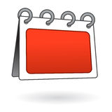 Scheda in bianco del segno isolata Fotografie Stock Libere da Diritti