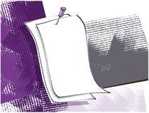 Scheda in bianco, illustrazione di disegno a mano libera, priorità bassa del grunge illustrazione vettoriale