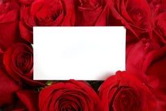 Scheda in bianco Surrou del messaggio del biglietto di S. Valentino o di anniversario Immagine Stock
