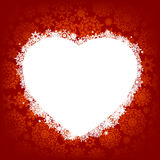 Scheda - blocco per grafici sotto forma di cuore. ENV 8 Immagine Stock