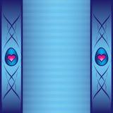 Scheda blu con gli ornamenti Illustrazione di Stock