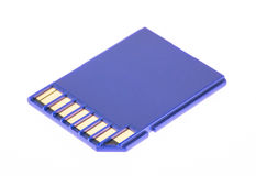 Scheda blu di deviazione standard di memoria Immagini Stock Libere da Diritti
