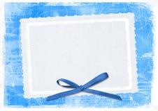 Scheda blu per accogliere nello stile retro royalty illustrazione gratis