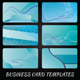 Scheda chiamante blu-chiaro Fotografie Stock