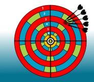 Scheda colorata dell'obiettivo Immagine Stock