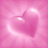 Scheda con cuore per il giorno del biglietto di S. Valentino Immagini Stock