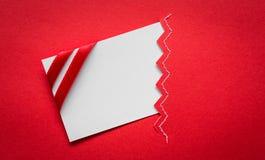 Scheda con gli archi rossi dei nastri Immagine Stock Libera da Diritti