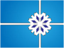 Scheda con i fiocchi di neve Immagine Stock Libera da Diritti