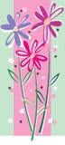 Scheda con i fiori di rosa Immagini Stock