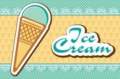 Scheda con il gelato Immagini Stock
