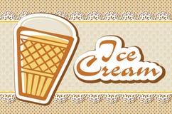 Scheda con il gelato Immagini Stock Libere da Diritti
