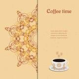 Scheda con la tazza di caffè Immagine Stock Libera da Diritti