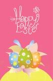 Scheda con le uova di Pasqua fotografia stock