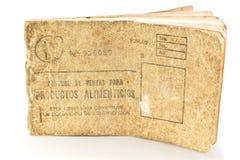 Scheda cubana dell'alimento della razione, libreta de la bodega Fotografie Stock Libere da Diritti
