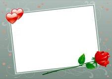 Scheda dei biglietti di S. Valentino Fotografie Stock Libere da Diritti