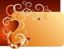 Scheda dei biglietti di S. Valentino Immagini Stock