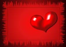 Scheda dei biglietti di S. Valentino Fotografia Stock