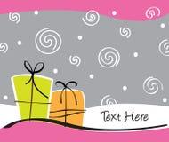 Scheda dei regali illustrazione di stock