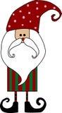 Scheda del Babbo Natale Fotografie Stock Libere da Diritti