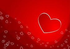 Scheda del biglietto di S. Valentino Fotografia Stock Libera da Diritti
