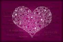Scheda del biglietto di S. Valentino. Fotografia Stock Libera da Diritti