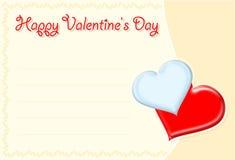 Scheda del biglietto di S. Valentino illustrazione di stock