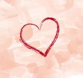 Scheda del biglietto di S. Valentino Immagini Stock Libere da Diritti