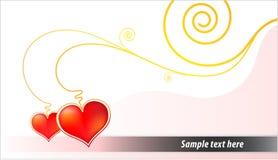 Scheda del biglietto di S. Valentino Fotografie Stock Libere da Diritti