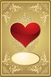 Scheda del biglietto di S. Valentino astratto Fotografie Stock