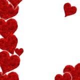 Scheda del biglietto di S. Valentino, colore rosso del cuore, amore Immagine Stock Libera da Diritti