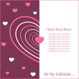 Scheda del biglietto di S. Valentino con lo spazio della copia Immagine Stock