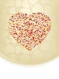 Scheda del biglietto di S. Valentino con lo spazio della copia. ENV 8 Fotografie Stock Libere da Diritti