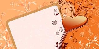 Scheda del biglietto di S. Valentino del cuore Fotografia Stock