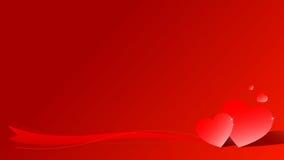 Scheda del biglietto di S. Valentino del cuore di amore Immagini Stock