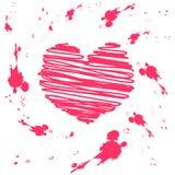 Scheda del biglietto di S. Valentino del grunge di vettore Illustrazione Vettoriale