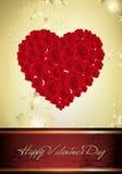 Scheda del biglietto di S. Valentino dell'annata Fotografia Stock