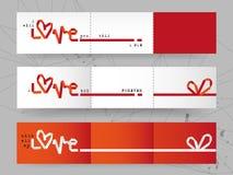Scheda del biglietto di S. Valentino di amore Fotografia Stock